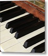 Antique Piano Metal Print by Martine Roch