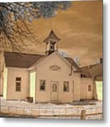 Arcola Illinois School Metal Print by Jane Linders