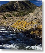 Arkansas River Autumn Metal Print by Ellen Heaverlo