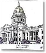 Arkansas State Capitol Metal Print by Frederic Kohli