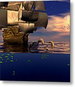 Arrival Of The Pilots Metal Print by Claude McCoy
