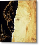Artist's Abstract Depiction Of Schizophrenia Metal Print by David Gifford