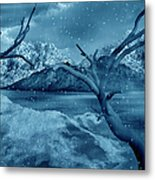 Artists Concept Of A Dangerous Snow Metal Print by Mark Stevenson