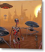 Artists Concept Of Life On Mars Long Metal Print by Mark Stevenson