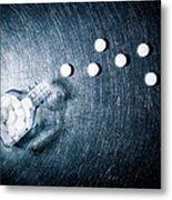Aspirin Spilled From Bottle On Stainless Steel. Metal Print by Ballyscanlon