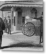 Assassination Of James King, Newspaper Metal Print by Everett