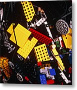 Assorted Lego Bricks And Cogs. Metal Print by Volker Steger