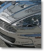 Aston Martin Db S Coupe Nose Detail Metal Print by Samuel Sheats