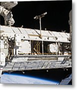 Astronauts Continue Maintenance Metal Print by Stocktrek Images