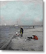 At The Beach Metal Print by Andrew Fare