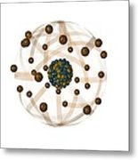 Atomic Structure, Artwork Metal Print by Crown Copyrighthealth & Safety Laboratory