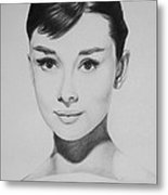 Audrey Hepburn Metal Print by Steve Hunter