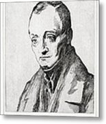 Auguste Comte, French Philosopher Metal Print by Humanities & Social Sciences Librarynew York Public Library