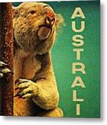 Australia Koala Metal Print by Flo Karp
