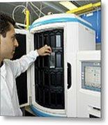 Automated Blood Bacteria Tests Metal Print by Tek Image