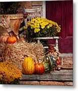 Autumn - Gourd - Autumn Preparations Metal Print by Mike Savad