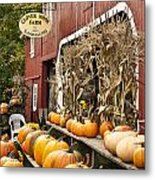 Autumn Farm Stand  Metal Print by John Greim