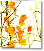 Autumn Leaves Abstract Metal Print by Andee Design