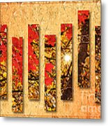 Autumn Sunrise Painterly Abstract Metal Print by Andee Design