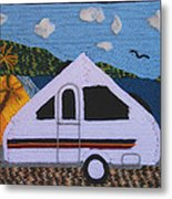 A'van By The Sea Metal Print by Patricia Tapping