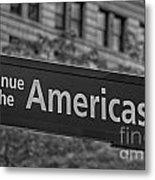 Avenue Of The Americas Metal Print by Susan Candelario