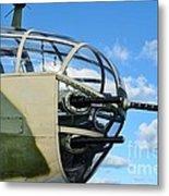 B-25j Nose Metal Print by Lynda Dawson-Youngclaus