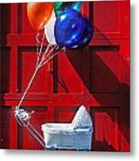Baby Buggy With Balloons  Metal Print by Garry Gay