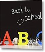 Back To School Concept With Abc Letters Metal Print by Sandra Cunningham