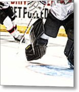 Back To The Crease Metal Print by Karol Livote