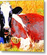 Bad Cow . 7d1279 Metal Print by Wingsdomain Art and Photography