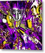 Bad Monday - Ironic Laugh -  Purple-yellow  Metal Print by JL Eichers