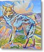 Badland Coyote Metal Print by Jenn Cunningham