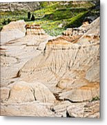 Badlands In Alberta Metal Print by Elena Elisseeva