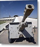Baghdad, Iraq - An Iraqi Howitzer Sits Metal Print by Terry Moore