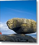 Balance Rock, British Columbia Metal Print by David Nunuk