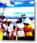 Balinese Beach Funeral  Metal Print by Funkpix Photo Hunter