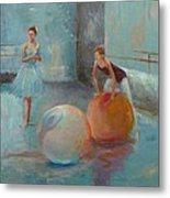 Ballet Class With Balls Metal Print by Irena  Jablonski