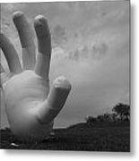 Balloon Hand Metal Print by Nina Mirhabibi