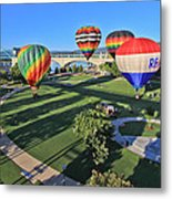 Balloons In Coolidge Park Metal Print by Tom and Pat Cory