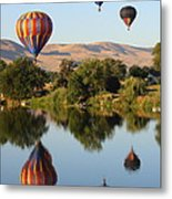 Balloons Over Horse Heaven Metal Print by Carol Groenen
