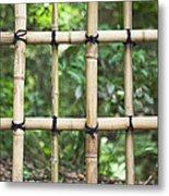 Bamboo Fence Detail Meiji Jingu Shrine Metal Print by Bryan Mullennix