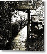 Bamboo Garden - 1 Metal Print by Alan Hausenflock
