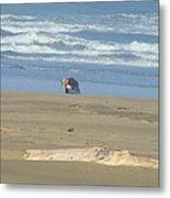 Bandon Oregon Beach Comber Prints Ocean Coastal Metal Print by Baslee Troutman