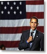 Barack Obama At A Public Appearance Metal Print by Everett