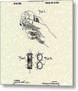 Bare Ball Curver 1909 Patent Art Metal Print by Prior Art Design