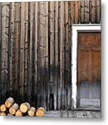 Barkerville Back Porch Metal Print by Calvin Wray