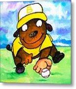 Baseball Dog 3 Metal Print by Scott Nelson