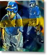Baseball Stances  Metal Print by James Thomas