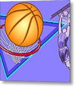 Basketball Metal Print by Erasmo Hernandez