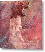 Bathing In The Rain Metal Print by Rachel Christine Nowicki